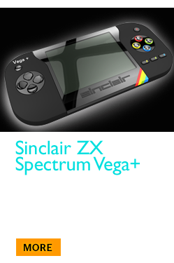 Sinclair ZX Spectrum Vega+ - the world's only hand-held LCD games console with 1,000 games & connects to your TV